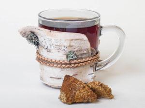 Chaga chunks an Tea